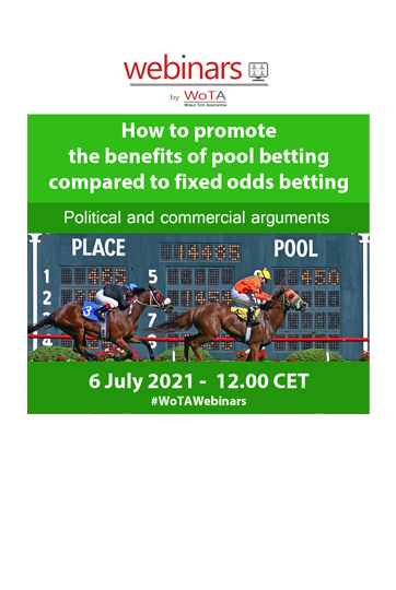 WoTA's next Webinar on how to promote the benefits of pool betting compared to fixed-odd betting is scheduled on 6th July 2021