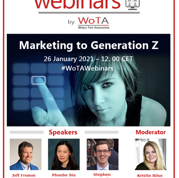 WoTA announces its second Webinar: Marketing to Generation Z on 26 January 2021