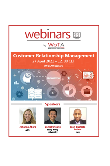 WoTA announces its third Webinar on customer Relationship Management on 27 April